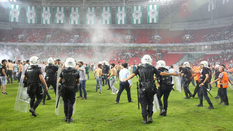 The Turkish FA want to make football 'family-friendly' by improving security