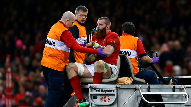 Jake Ball went off injured during the autumn international against New Zealand