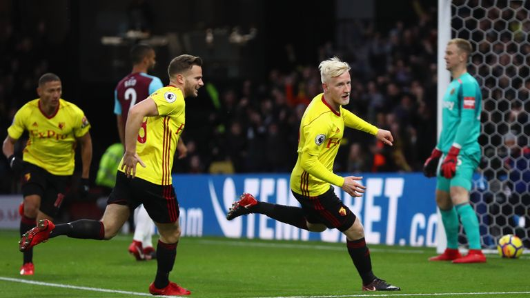 Will Hughes came off the bench for his first appearance since November 28