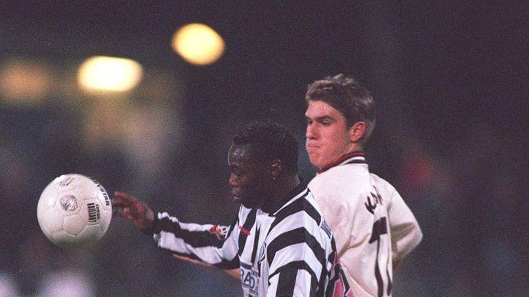Souleymane Sane in action for German side Wattenscheid in February 1999