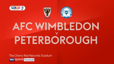 AFC Wimbledon 2-2 Peterborough