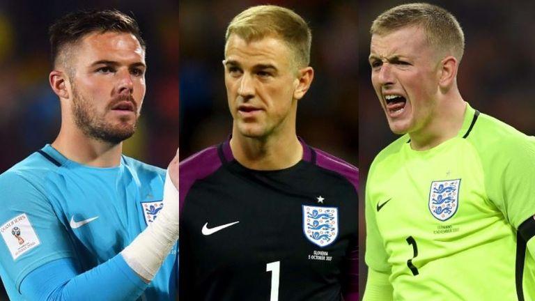 Jack Butland, Joe Hart, Jordan Pickford - England goalkeepers