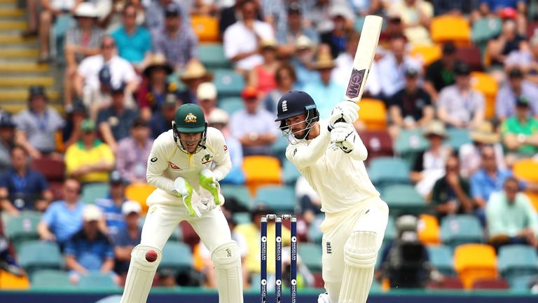 James Vince of England bats during day one of the First Test Match of the 2017/18 Ashes Series