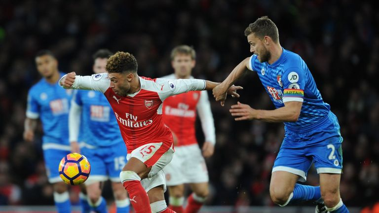 Arsenal and AFC Bournemouth at Emirates Stadium on November 27, 2016 in London, England. (Photo by Stuart MacFarlane/Arsenal FC via Getty Images)