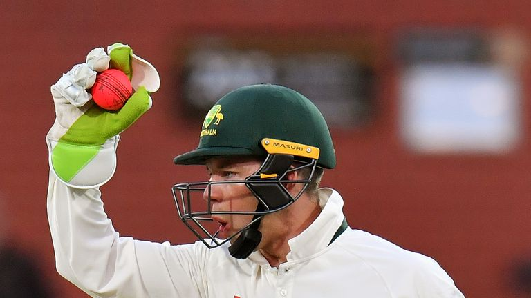 Tim Paine of CA XI appeals during the four day tour match between Cricket Australia XI and England at Adelaide Oval