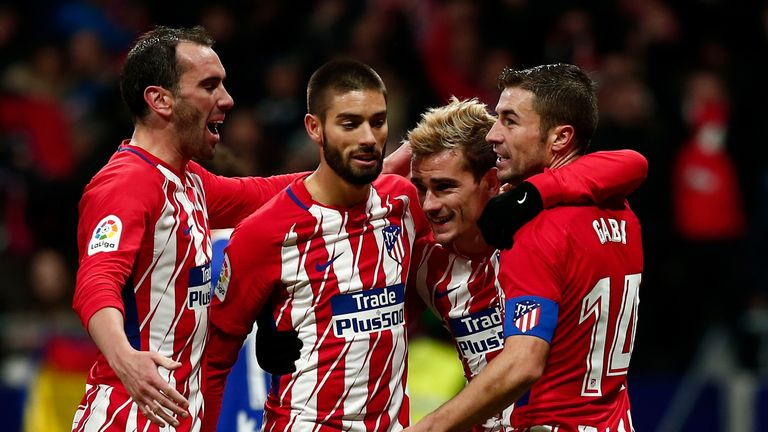 La liga round up atletico madrid cut gap on barcelona sevilla antoine griezmann scored the second goal for atletico on saturday voltagebd Image collections
