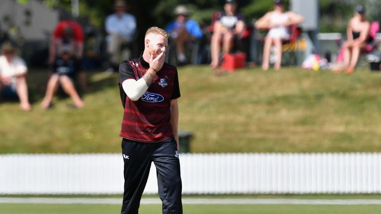 Ben Stokes is playing in New Zealand but remains unavailable to England for now