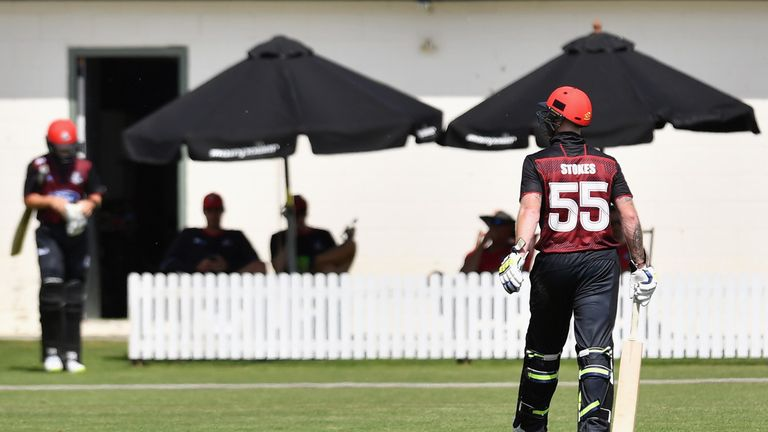 Ben Stokes was out cheaply on Saturday in Rangiora