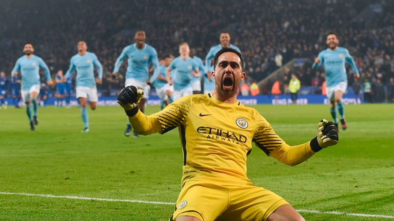 Man City hold nerve to beat Leicester on penalties in Carabao Cup