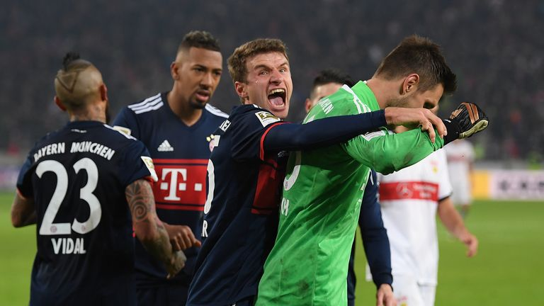 Bayern's Sven Ulreich thrilled with late penalty-saving heroics at Stuttgart