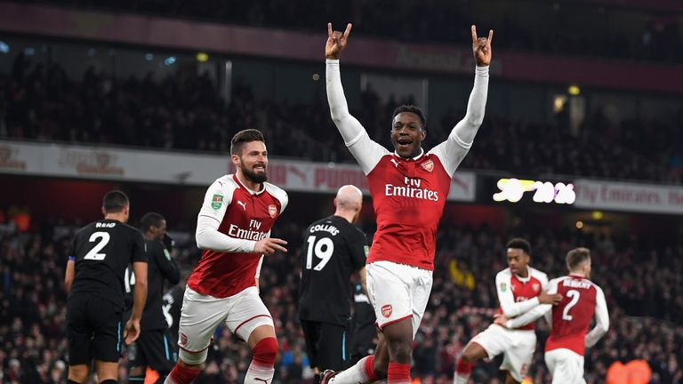 Wenger says he prefers to play Danny Welbeck as a striker