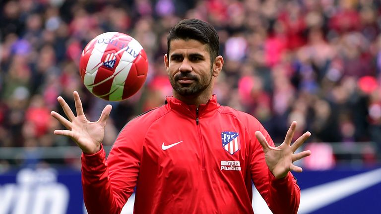 Atletico Madrid's Spanish forward Diego Costa is back in the Spain squad