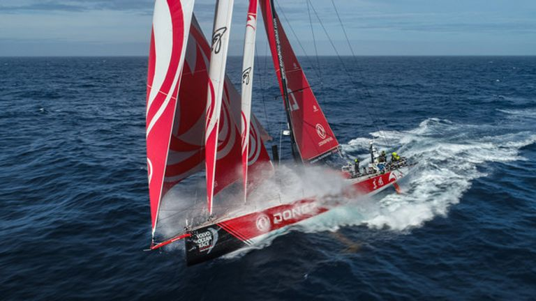 Dongfeng are currently second in the overall standings (Pic: Martin Keruzore/Volvo Ocean Race)