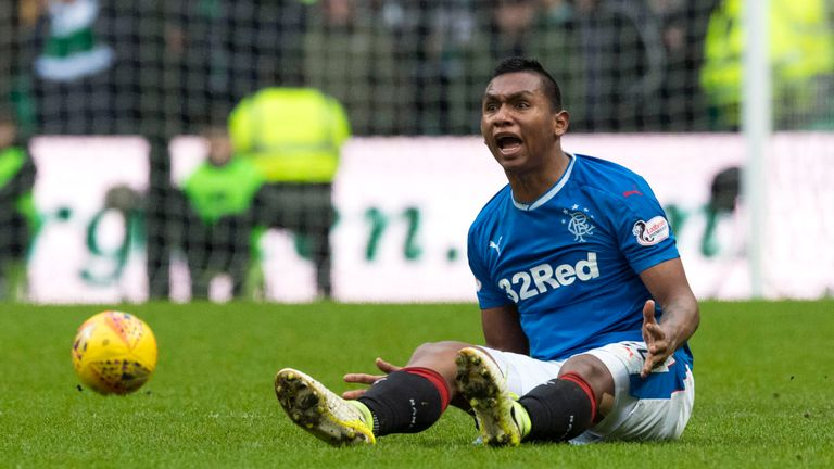 Image result for alfredo morelos miss v Celtic
