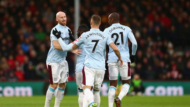 Marko Arnautovic's shirt was spelt incorrectly for West Ham's game at Bournemouth