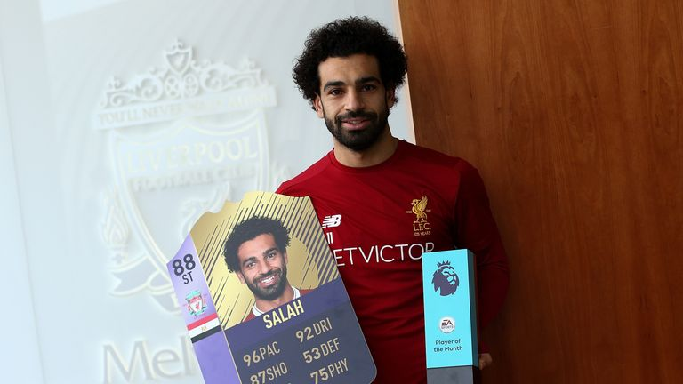 Mohamed Salah has been named the Premier League Player of the Month for November