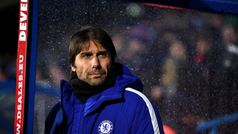 Antonio Conte brushes off suggestions he is unhappy at Chelsea