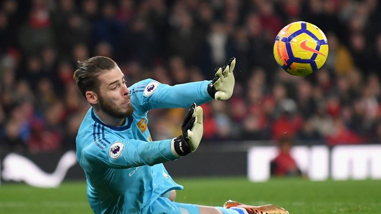 De Gea produced a league-record high 14 saves against Arsenal