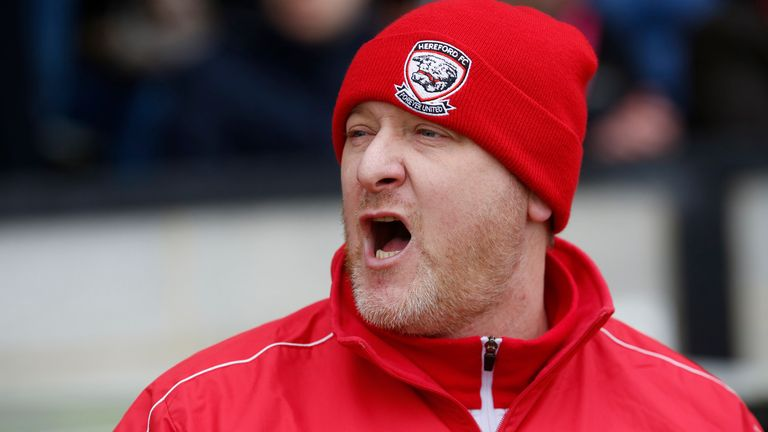 Hereford manager Peter Beadle saw his side earn a draw at Fleetwood