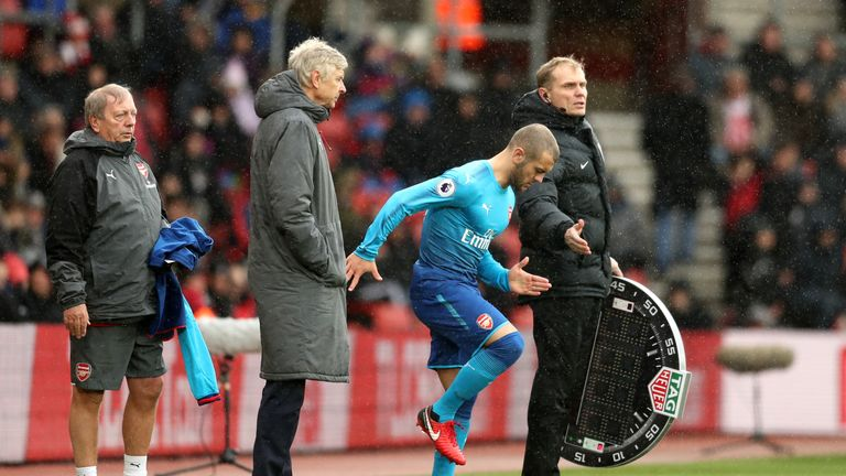 Wilshere has made six Premier League appearances this season with five of them from the bench