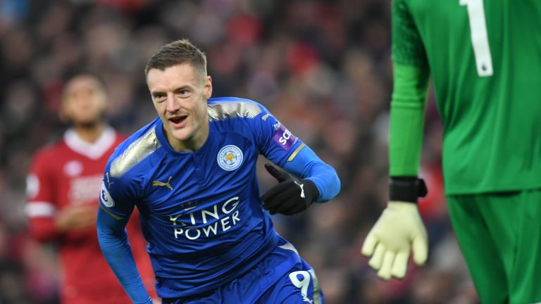 Jamie Vardy is a doubt for Leicester's clash with Fleetwood