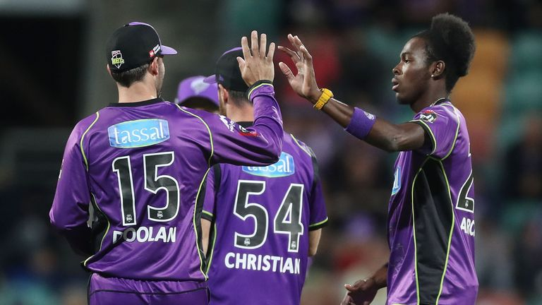 Jofra Archer (right) is part of an exciting young Sussex bowling attack