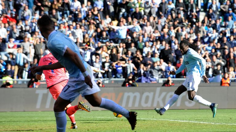 Jordan Lukaku scores the opening goal for Lazio