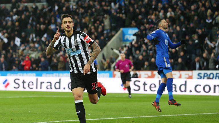 Joselu was on target for Newcastle