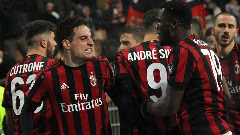 AC Milan are pushing for a spot in Europe next season
