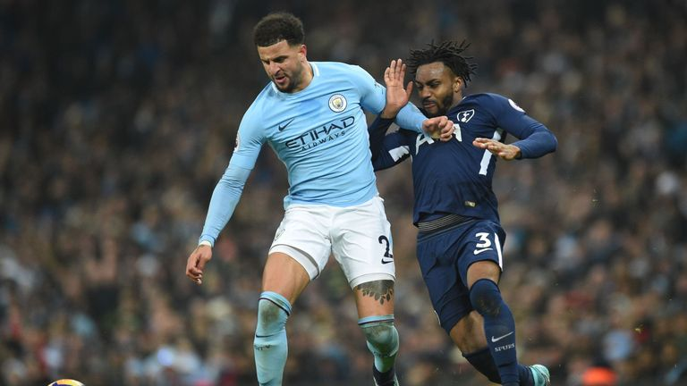 Walker has started all but two of City's Premier League games this season