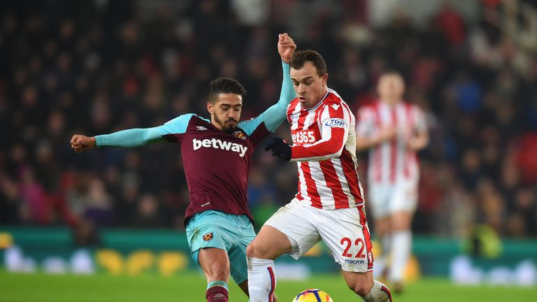 Manuel Lanzini is set to miss out against Arsenal on Tuesday