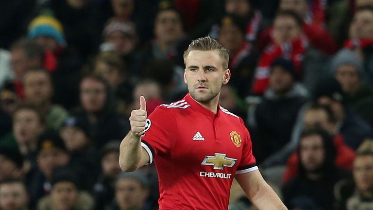 Luke Shaw played his third game of the season on Tuesday
