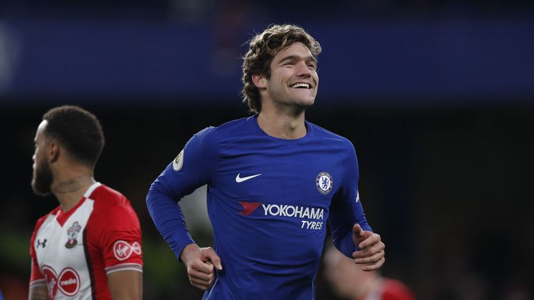 Marcos Alonso has scored four Premier League goals this season