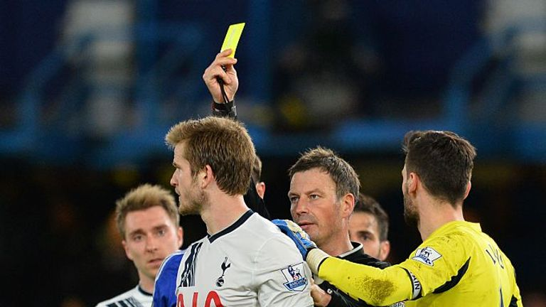 Mark Clattenburg booked nine Tottenham players in May 2016