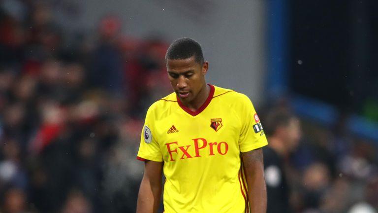 Marvin Zeegelaar was sent off on Saturday against Burnley