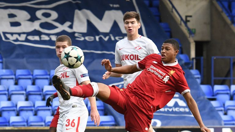Rhian Brewster was reportedly furious at the end of Liverpool Under-19s' win over Spartak Moscow on Wednesday