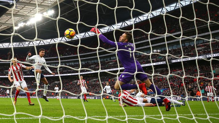 Ryan Shawcross put the ball into his own net at Wembley to open the scoring