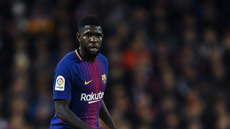 Samuel Umtiti has made 19 appearances for Barcelona this season