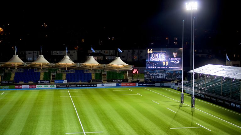 Scotstoun Stadium was evacuated due to a fire alarm in the North Stand