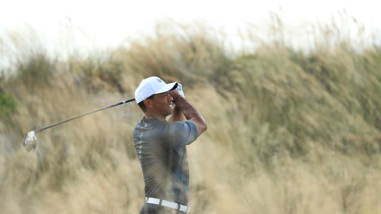 Tiger Woods made a poor start with bogeys at four of the first seven holes