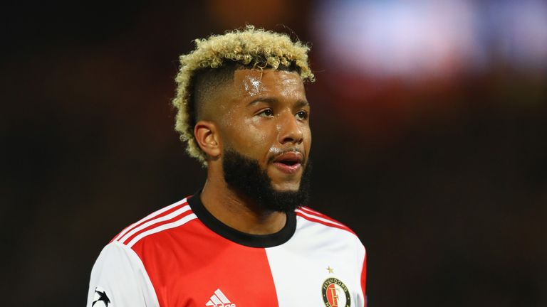 Tonny Vilhena scored twice for Feyenoord on Sunday