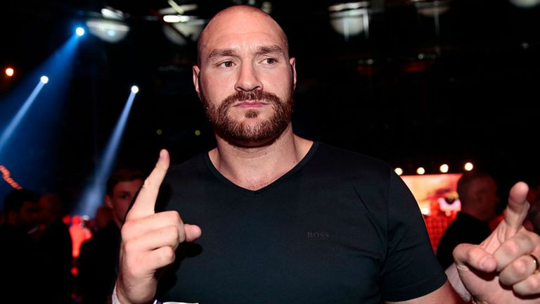 Eddie Hearn says Tyson Fury has three potential opponents for return