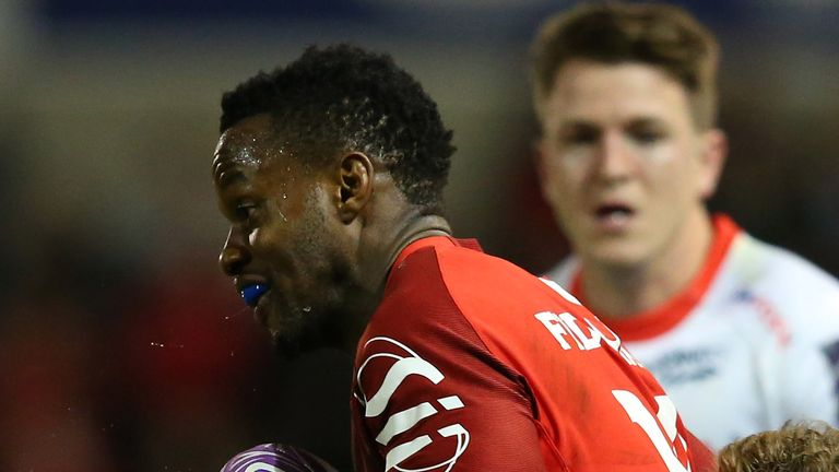 Wandile Mjekevu scored twice for Toulouse against Lyon