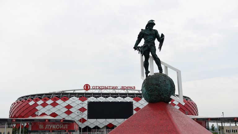 Spartak Stadium in Moscow is one of two arenas to be used in the Russian capital