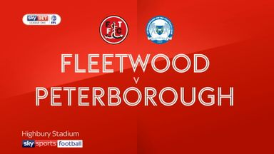 Fleetwood 2-3 Peterborough