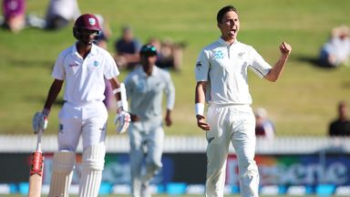 Trent Boult took 10 wickets over two Tests against the West Indies