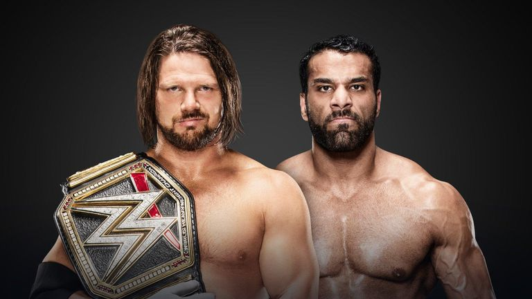WWE Champion AJ Styles takes on Jinder Mahal in the Clash of Champions main event