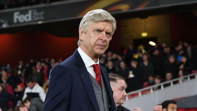 Arsenal manager Arsene Wenger before the UEFA Europa League group H match against BATE Borisov at Emirates Stadium on December 7, 2017.