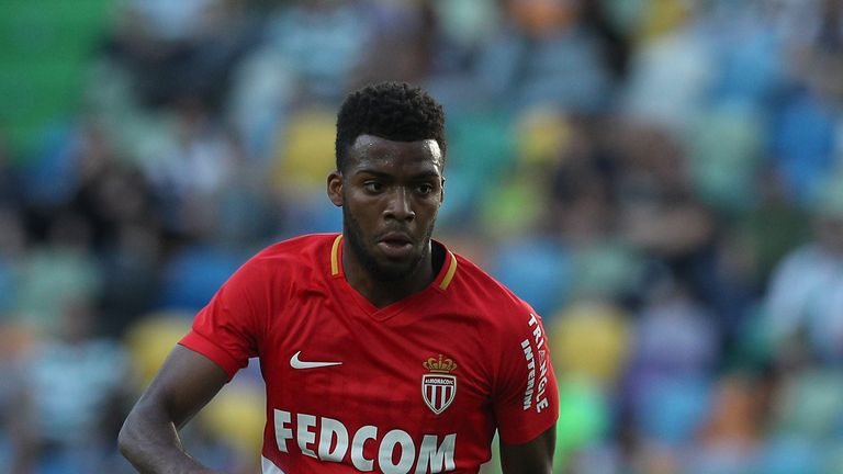 LISBON, PORTUGAL - JULY 22:  Monaco midfielder Thomas Lemar from France during the Friendly match between Sporting CP and AS Monaco at Estadio Jose Alvalad