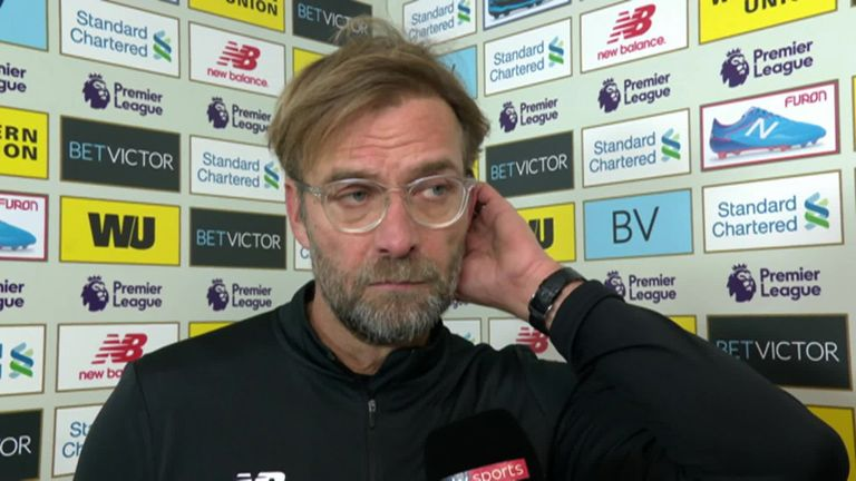 Jurgen Klopp interview with Sky Sports after Liverpool's 1-1 draw with Everton